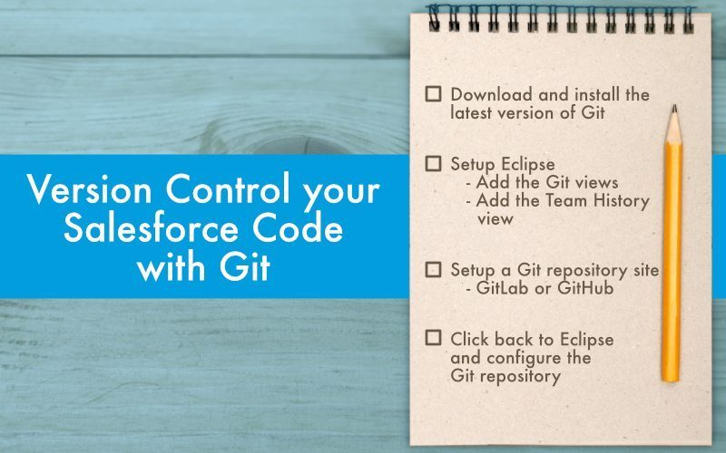 Version Control your Salesforce Code with Git